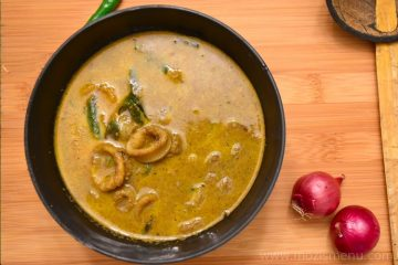 Kanava Varutharacha Curry / Koonthal Varutharacha Curry / Squid in Roasted coconut gravy