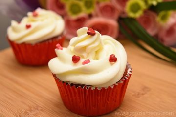 Red Velvet Chocolate Chip Cupcake