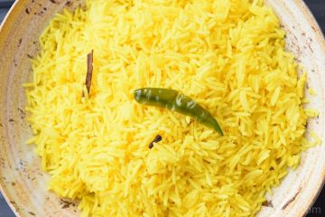 Turmeric Rice / Pilaf / Pulao / Pulav / Yellow Rice